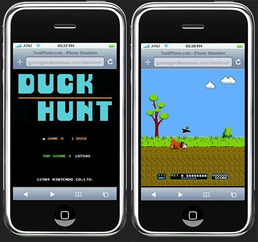 iPhone Duck Hunt