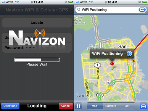 GPS iPhone Navizon